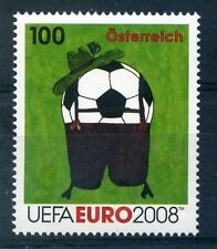 Austria 2008 1 Euro UEFA football stamp mint