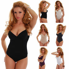 Cotton Womens Bodysuit HARD CUP B C thong TIARA GALIANO 6113 Leotard lady body
