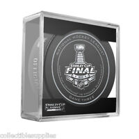 2015 NHL Stanley Cup Blackhawks Lightning Sherwood Official Game Puck #3 Three