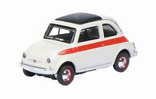Schuco 26149 Fiat 500 F Sport White with Red Stripe 1/87 H0 Scale in Case T48Pos