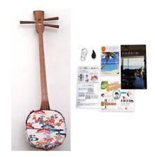 Shamisen SANSHIN Traditional Okinawa Ryukyu SET White ( Book Bachi Strings... )