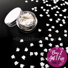 Nail Art Glitter White Apples Shiny Apple Symbol Mac iPhone Shape Flakes Sequins