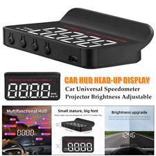 HD Hud Head-up Display Car Universal Speedometer Projector Brightness Adjustable