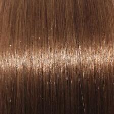 extenia - 25 BRUN-ROUGE Mèches 60 cm Cheveux véritables 1g-extensions Brun moyen