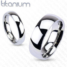 4mm Glossy Mirror Polished Traditional Wedding Band Ring Solid Titanium