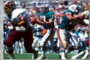NFL QB Dan Marino Miami Dolphins Looking Down Field Color 8 X 10 Photo Picture