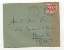 Tunisie 1 timbre sur lettre 1951 tampon Tunis /L773