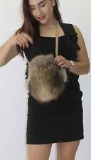 Pelz- Fell -Beutel Finnraccoon Natur   Fur vest мех жилет pelliccia