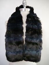 LORO PIANA $6,000+ chinchilla fur cashmere lined wrap scarf