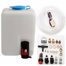 12V 1.8L Windshield Washer Reservoir Bottle Kit Hose Jets Sets w/ Pump Universal