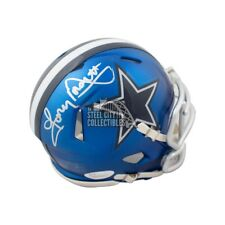 Tony Dorsett Autographed Dallas Cowboys Blaze Mini Football Helmet - JSA COA