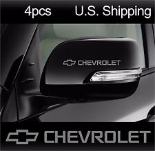 4 CHEVROLET Stickers Decals Wheels Door handle Wing Mirror camaro Racing SILVER