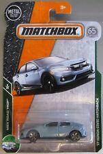 Matchbox MBX Road Trip '17 HONDA CIVIC HATCHBACK 6/35 light blue