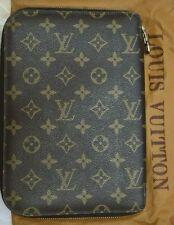 Authentic Louis Vuitton Malletier SD0922 Monogram Zipped Agenda from 90's