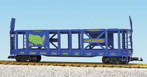 USA Trains R17236 G CSX Two-Tier Auto Carrier Flat Cars