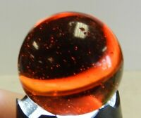 #11738m Rare Huge 1.10 Inches Akro Agate Amber Glass Corkscrew Shooter Marble