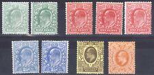 Gb 1911 1d-4d Perf 15x14 All Shades Sg 279-286 Sc 146-150 Lmm/Mlh Cat £259($336)