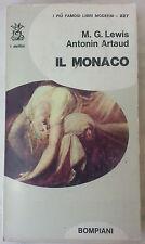 """M.G. Lewis A. Artaud """"Il monaco"""" Bompiani 1970"""