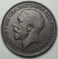 1918 GREAT BRITAIN 1/2 HALF PENNY PLEASING CHOICE HIGH GRADE GEM (DR)