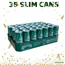 35 PERRIER SPARKLING NATURAL MINERAL WATER IN SLIM CAN 8.45oz