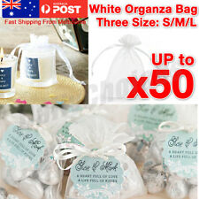 10-50Pcs 3 Size Organza Bag Sheer Bags Wedding Candy Party Easter Egg Gift Bags