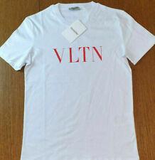 VALENTINO T-Shirt Herren Rundhals Weiß mit Logo Große S-XXL