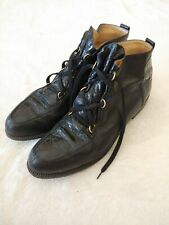 Walter Genuin Womans Golf Boot Shoe Black Made in Italy Sz 9B