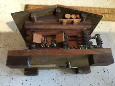 Vintage Swiss Musical Chalet Box, Vintage Music Box, Working
