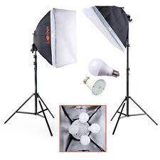 2 x LED Softbox Lighting Kit   Luxlight®   8x25w   Photo Video Studio Continuous