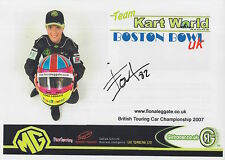 Fiona Leggate Hand Signed Promo Card British Touring Cars.