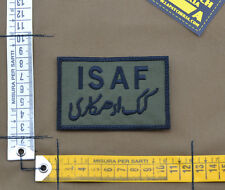 "Ricamata / Embroidered Patch ""ISAF"" OD with VELCRO® brand hook"