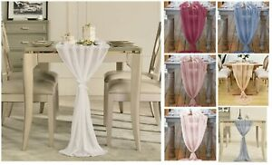 Wedding Table Runner 70x500cm Polyester Flowing Romantic Dusty Rose Party Decors