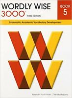 Wordly Wise 3000 Book 5 Third 3rd Edition Student 5th Grade Vocabulary