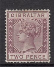 GIBRALTAR-1886  2d Brown Sg 10 MOUNTED MINT