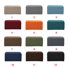 Stretch Ottoman Pouf Cover Footstool Slipcover Footrest Stool Protector