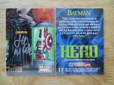 1995 DC VS MARVEL BATMAN CARD SIGNED BY LEE WEEKS,WITH POA
