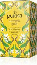Pukka Curcuma or Thé Sacs 4 Boîtes 20 Enveloppé Thé Sacs fournis (80)