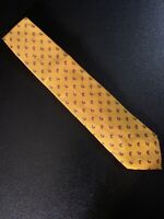 "euc Tino Cosma Yellow Paisley Silk Tie Necktie Made In Italy Men's 58"" 3.5"""