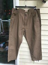Schmidt Workwear Brown Work Pants Men Carpenter Utility tag 42x30 true 40.5x29.5