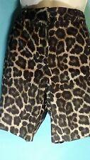 MICHAEL KORS Animal print khaki shorts size (4P)