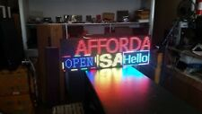 "38""x 13 "" Full Color Semi Outdoor LED Sign Programmable Scrolling  (Made in USA)"