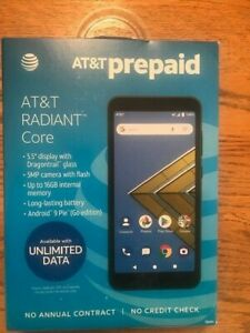 "AT&T RADIANT CORE 16GB 5.5"" Display 5MP PREPAID Smartphone-Dark Gray NEW"