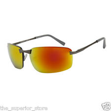 Xsportz XS71  Sports Sunglasses Mens Gun Metal Gold Flash Mirror Gold