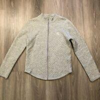 LRL Lauren Ralph Lauren Womens Small Gray Quilted Lightweight Zip Up Sweatshirt