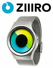 ZIIIRO Celeste Colored Chrome Unisex Stainless Steel Watch