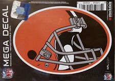 "Cleveland Browns MEGA Design 5"" Decal Repositionable Vinyl Oval Sticker Football"