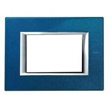 Placca 3 moduli Axolute blu meissen  - BTICINO LEGRAND HA4803BM