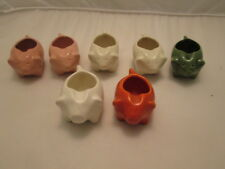 Stangl McCoy Pottery Pig Miniature Small Ashtray Collection of 7