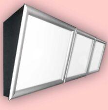 LED-Menüboard -Speisekarte geneigt 3 Fenster & Klapprahmen, Backlite 3000x600 mm