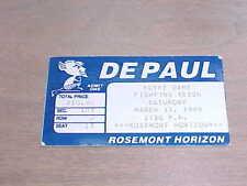 1989 Notre Dame v DePaul Blue Demons Basketball Ticket 3/11